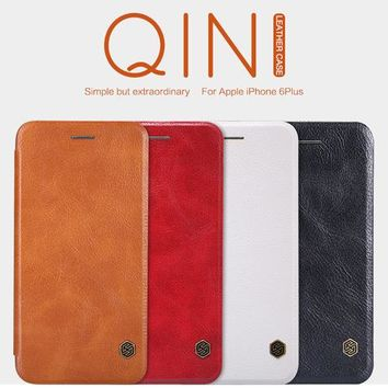 For iphone 6s plus case Nillkin Qin Wallet Flip Leather Case cover for apple iphone 6 plus 5.5inch mobile phone bag for i6 plus