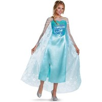 Disguise Women's Disney Frozen Elsa Deluxe Costume