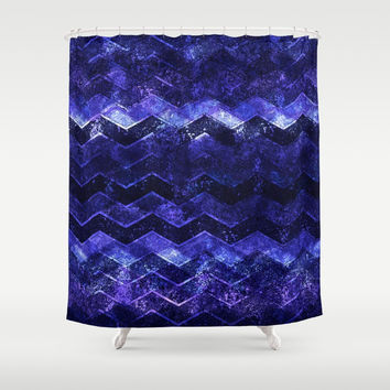 Glitter Waves III Shower Curtain by uniqued