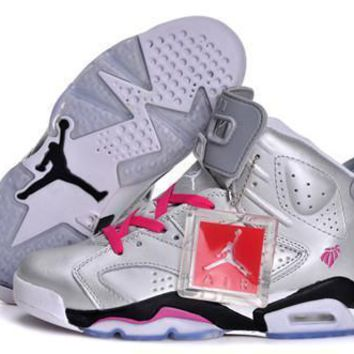 Hot Air Jordan 6 Retro Women Shoes Valentines Day 2014
