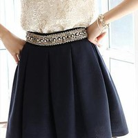 Diamond pleated skirt. from Moonlightgirl