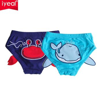 IYEAL 2Pcs/Lot High Quality Baby Swimwear Fashion Swim Diaper Girls/Boys Swimsuit Infant Swimming Kids Swimsuit With Shorts