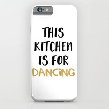 THIS KITCHEN IS FOR DANCING iPhone & iPod Case by deificus Art