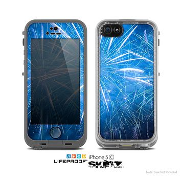 The Blue Fireworks Skin for the Apple iPhone 5c LifeProof Case