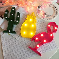 Lumiparty 3D LED Lamps; Flamingo, Pineapple, Cactus, Home Decor