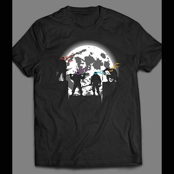 TEENAGE MUTANT NINJA TURTLES MOONLIGHT SILHOUETTE CARTOON SHIRT