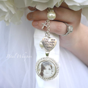 Bouquet Photo Charm -  Bridal Bouquet Charm - Bride Photo Charm - Bridal Gift -  Bridal Accessories - Wedding Photo Charm - Gift For Bride -