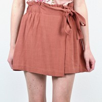Show Me Off Tie Shorts {Marsala}