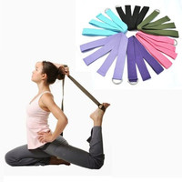Ulamore New Yoga Stretch Strap D-Ring Belt Waist Leg Fitness 180CM Adjustable [8069648071]