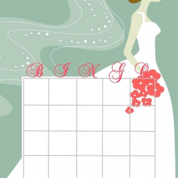 Romantic Bridal Bingo Cards