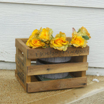 Wood Crate, Rustic Decor, Wooden Crate, Kitchen Decor, Wedding Decor, Rustic Kitchen Decor, Home Decor, Rustic home Decor, Storage Box,