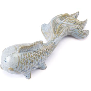 Blue Goldfish Figurine