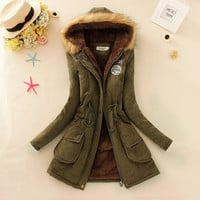 Winter Outwear Military Hooded Coat