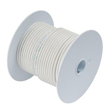 Ancor White 8 AWG Tinned Copper Wire - 50' [111705]
