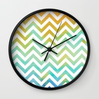 Beach Time Abstract Wall Clock by Lena Photo Art