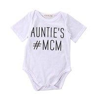 Newborn Baby boys Girls Game Bodysuits Onesuit Infant Babies Kids Cute Bodysuit one-pieces Outfits Kids Clothing letter printed Auntie's MCM
