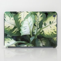 Painted Green Foliage  iPad Case by KCavender Designs