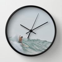 morning surf Wall Clock by RichCaspian
