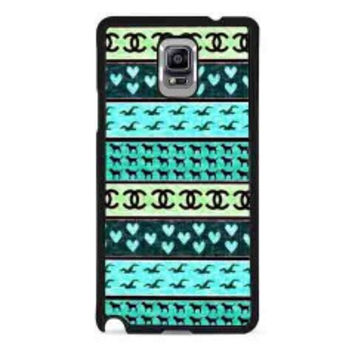 red hollister seagulls chanel sign hearts stripes for samsung galaxy note 4 case