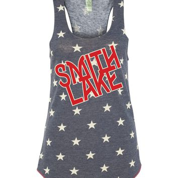 Smith Lake Tank Top - Red White and Blue Ladies Tank Top - Fourth of July Smith Lake Tank Top