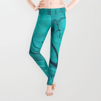 Watercolors teal Leggings by VanessaGF