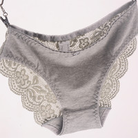 New Women's Cotton Briefs Lace Panties Plus Size Transparent Underwear Ladies Intimates Sexy XL 2XL 3XL High Quality