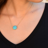 Be A Gem Necklace - Turquoise