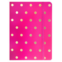 Raspberry Polka Dot Journal