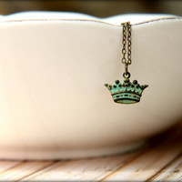 Verdigris Crown Necklace