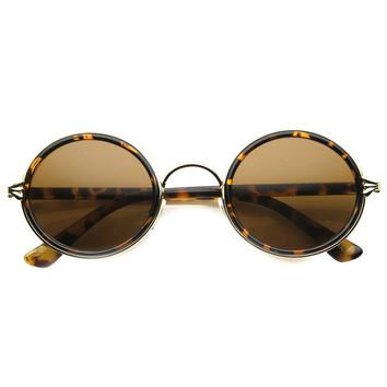 Unisex Rimless Sunglasses With UV400 Protected Composite Lens