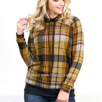 Barry Gold Plaid Hoody