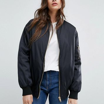 ASOS Oversized Bomber Jacket at asos.com