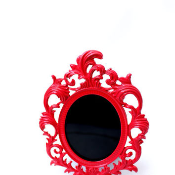 Black Oval Gypsy Scrying Mirror for Divination, Vision Quest, Wicca, romani, roma