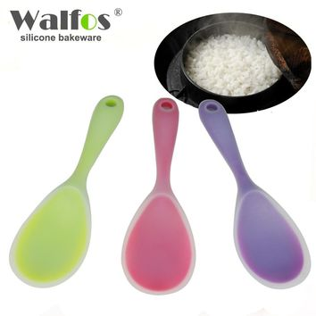 WALFOS food grade heat resistant Silicone Rice Spoon heat resistant Sushi Scoop