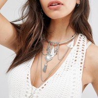 New Look Tassel Drape Necklace