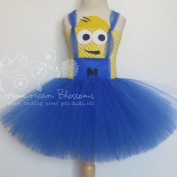 Minion Costume Tutu Dress Baby Girls Toddler Halloween Costume Despicable Me Minion tutu dress by American  sc 1 st  Wanelo & Minion Costume Tutu Dress Baby Girls from AmericanBlossoms on
