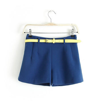 Summer Korean Simple Design Stylish Pants Waistband Shorts [4918014852]