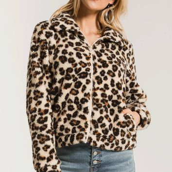 The Leopard Sherpa Crop Jacket