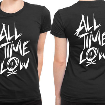 All Time Low Title 2 Sided Womens T Shirt