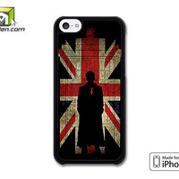 Sherlock Holmes And Union Jack Flag iPhone 5c Case Cover by Avallen