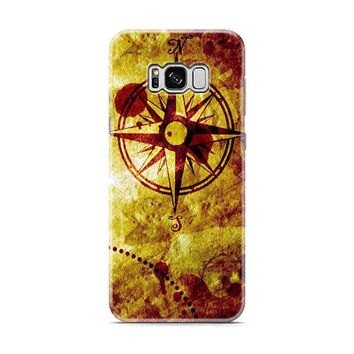 Compass Nautical Map Samsung Galaxy S8 | Galaxy S8 Plus Case