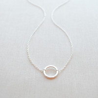 Silver Simple Circle Necklace