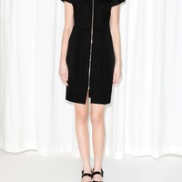 & Other Stories | Zipped Front Dress | Black