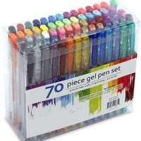 70 Gel Pen Set For Adult Coloring Books & More