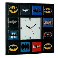 Best History of Batman Clock Bat Signal Movie TV Comics with 12 classic logos