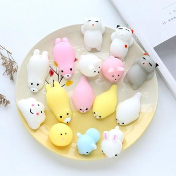Cute Squishy Phone Case For iPhone 7 7 Plus 6 6S Plus Case 3D Cartoon Animal Cat Seal Sea Lion Toy Soft TPU Silicon Back Cover