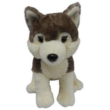 "10"" Stuffed Gray Wolf Plush Animal North American Forest Collection"