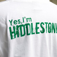 Tom Hiddleston YES, I'M HIDDLESTONER t shirt short sleeve