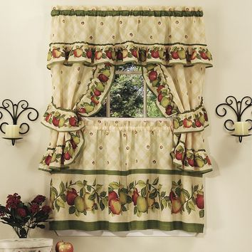 Apple Orchard 5-pc. Swag Tier Cottage Kitchen Curtain Set