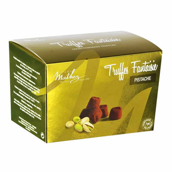 Mathez - French Chocolate Truffles with Pistachio, 8.8 oz